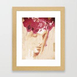 Flower portrait Framed Art Print