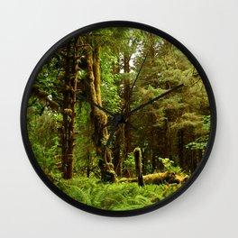 Hoh Rainforest Wall Clock