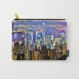 Hong Kong City Skyline Carry-All Pouch