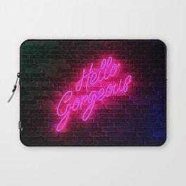 Hello Gorgeous - Neon Sign Laptop Sleeve
