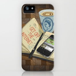 Internet Addict iPhone Case