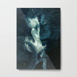 King Squid (portrait oriented) Metal Print