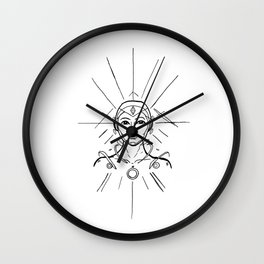 Interdimensional Guide- Original Ink (Black Lines) Wall Clock