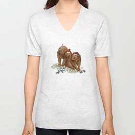 christmas bears Unisex V-Neck