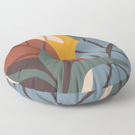 Abstract Art Jungle Floor Pillow