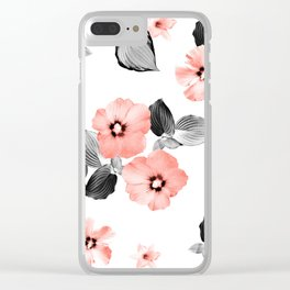 Living Coral Floral Dream #4 #flower #pattern #decor #art #society6 Clear iPhone Case