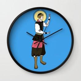 Patron Saint of Tiny Fat Birds Wall Clock
