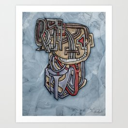 There Was A Crooked Man Who Wore A Crooked Bluetooth Art Print