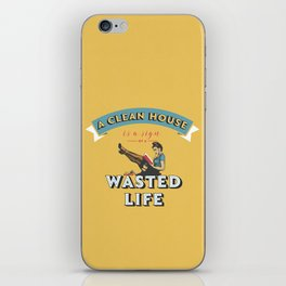 Do not waste your life iPhone Skin