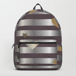 Shine Silver Backpack