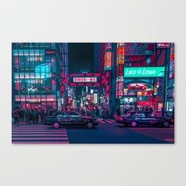 Cyberpunk Tokyo Street Canvas Print