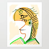 actor Art Prints featuring actor 3940 by Matt Vaillette