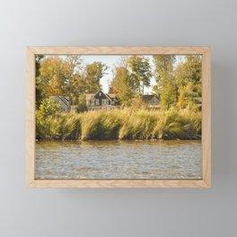 Lake Houses Framed Mini Art Print