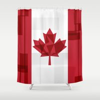 canada Shower Curtains featuring O Canada by Fimbis