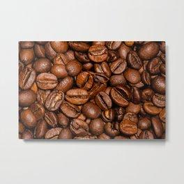 Shiny brown coffee beans Metal Print
