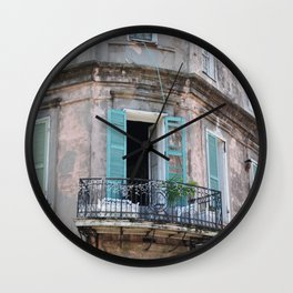 New Orleans French Quarter Balcony Wall Clock