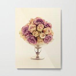 Bowl of roses Metal Print
