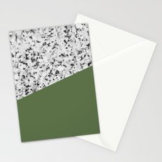 Granite and kale color Stationery Cards
