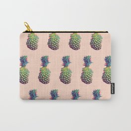 Vintage style pineapple with grunge glitch effect design Carry-All Pouch