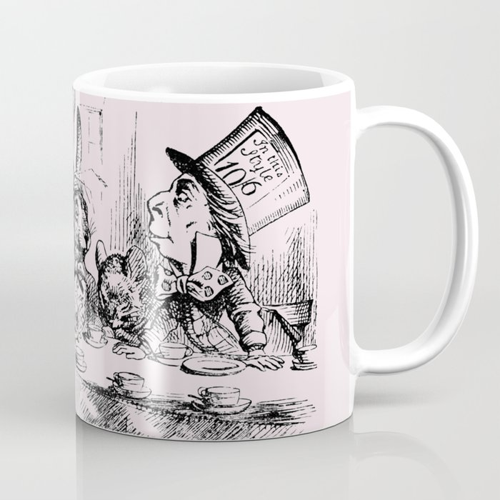 Blush Pink Mad Hatter S Tea Party Coffee Mug By Peggieprints Society6