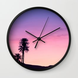 Sunrise Moon and Star over the Moroccan Desert Wall Clock