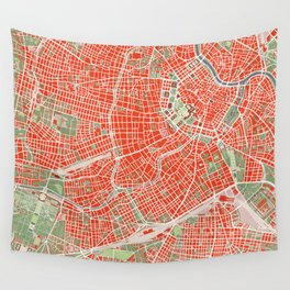 Vienna city map classic Wall Tapestry
