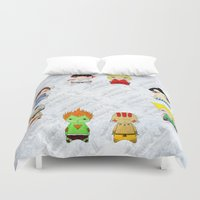 honda Duvet Covers featuring A Boy - Street fighter by Christophe Chiozzi
