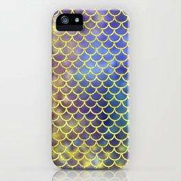 Rainbow Mermaid Scales Pattern iPhone Case