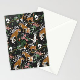 Leopards at night Stationery Cards