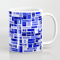doors Mugs featuring Doors - Blues by Finlay McNevin