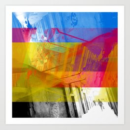 Or, how to traverse while leaving adequate traces? [CMYK] Art Print