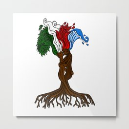 Elemental Tree Metal Print