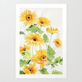 Beautiful Yellow Gerbera Art Print