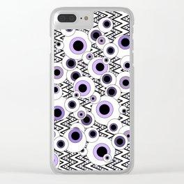 Peekaboo - Purple Clear iPhone Case