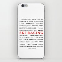 ski iPhone & iPod Skins featuring Ski Racing by BACK to THE ROOTS