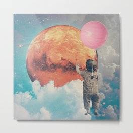Balloon, Baby and Moon Metal Print