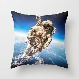 Astronaut in orbit #2 Throw Pillow