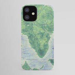 Jurassic Park - Map - Colour iPhone Case