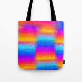 Psychedelic Rainbow Heat Waves Tote Bag