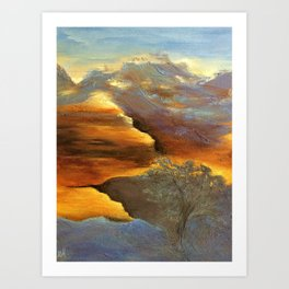 CLIMBING UP Art Print