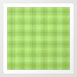 Chartreuse Gingham Art Print