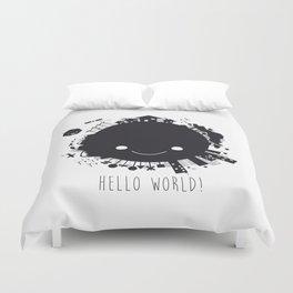 Hello, world! Duvet Cover