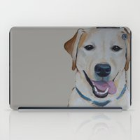 lab iPad Cases featuring Smiling Lab by Ginny M