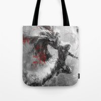 thor Tote Bags featuring Thor by Wisesnail