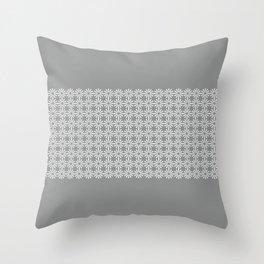 pahulje (gray) Throw Pillow