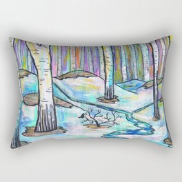 Early Spring in Birch Grove Rectangular Pillow