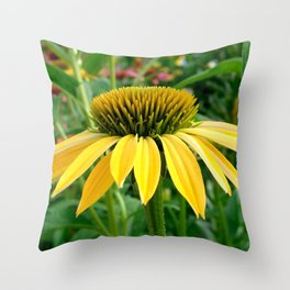 Yellow Echinacea/Coneflower Sideview Throw Pillow