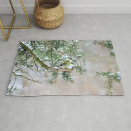 Lost in Time: April Snowstorm Rug