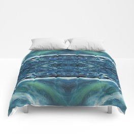 In the frost Abstract Painting Comforters