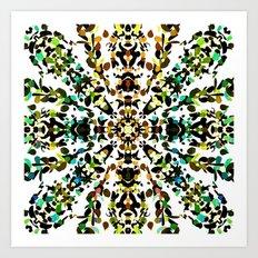Autumn Mandala (Square) Art Print